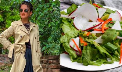 "#OK! ნინო ჩხეიძე ""მწვანე სალათის"" მომზადების წესს გვიზიარებს! (ვიდეო)"